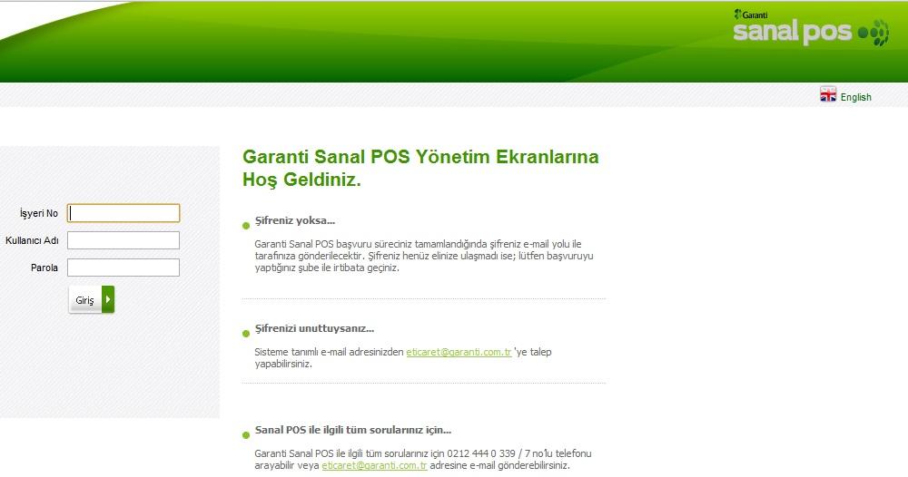 Garanti Bankası sanal POS kurulumu nasıl yapılır?